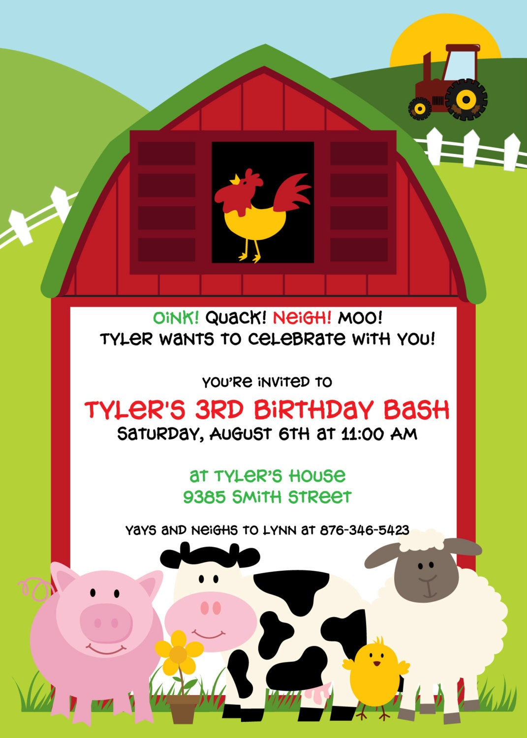 Barnyard Birthday Invitations for your inspiration to make invitation template look beautiful