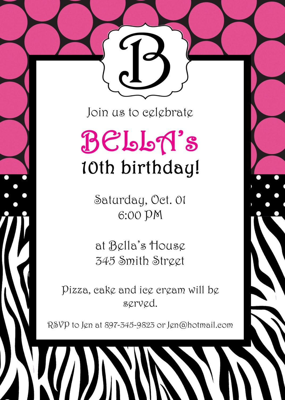 Zebra invitation for adults orderecigsjuicefo zebra birthday party invitation wording image inspiration of birthday invitations stopboris Images