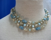 Blue and White Bead Set