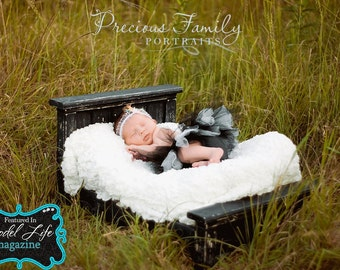 FREE SHIPPING Newborn Bed  Photo Prop  Classic Antique style