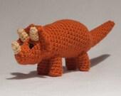 Custom Crochet Triceratops Dinosaur Toy