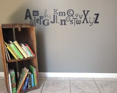 Vinyl Wall Decal - Funky Alphabet LARGE - Many Color Choices