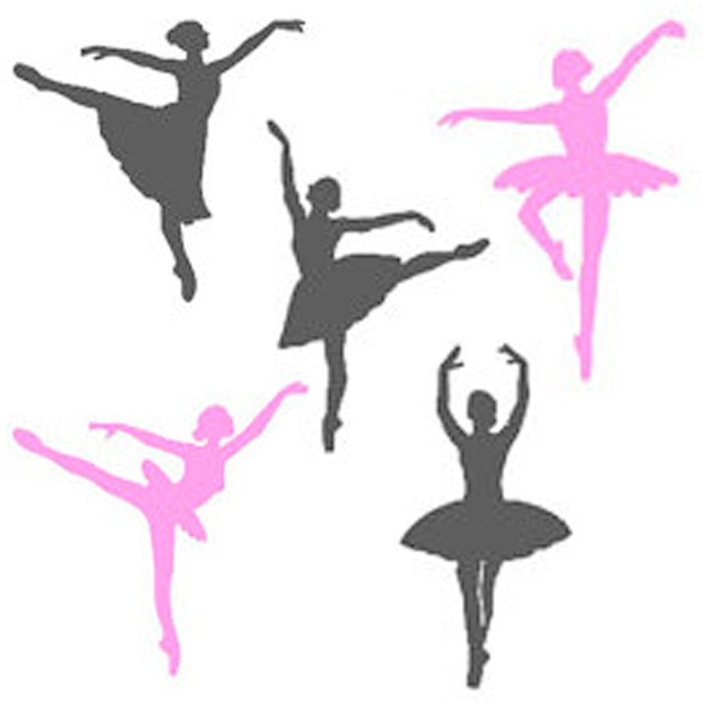 Ballerina wall decals set of 5 many color by livingcreatively for Ballerina wall mural