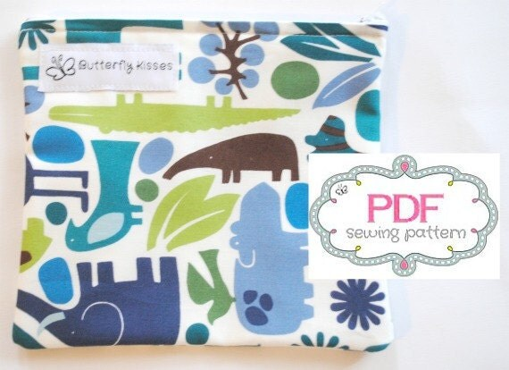 PDF Pattern - Reusable Snack Bag with zipper closure