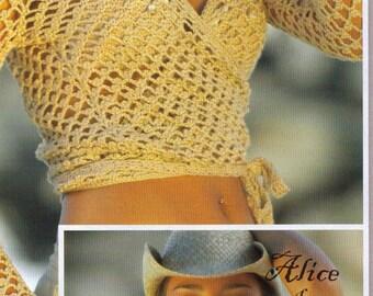 2 Crochet Patterns Wrap Over Top  and Bikini Bra French Ebook PDF  Modele Cache coeur soutien gorge