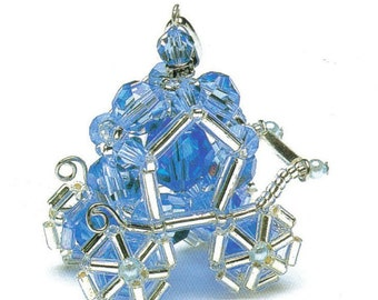 Cinderella Carriage Swarovski Beads Pendant Pattern PDF