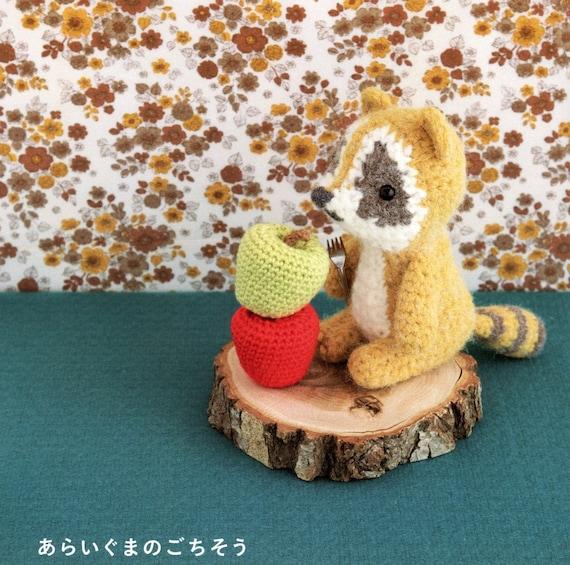 Amigurumi Fruit Crochet Patterns : Raccoon and Fruits Amigurumi Plush Crochet Pattern PDF