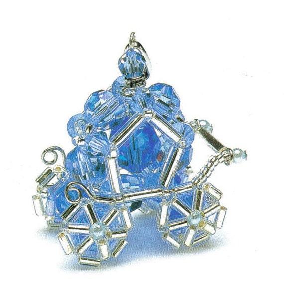 Cinderella Carriage Swarovski Beads Pendant Pattern PDF