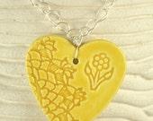 Yellow Heart Pendant