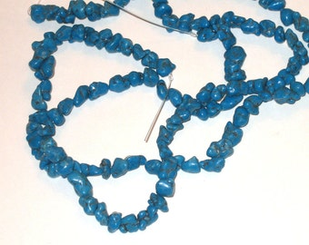"""SALE beads turquoise nuggets jewelry supplies 10x5mm 4"""" strand"""