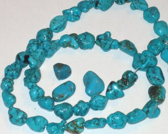 """SALE Turquoise nuggets 10x8mm 4""""strand"""
