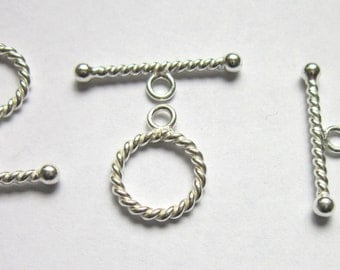 SALE Toggle sterling silver round 13mm 1 toggle