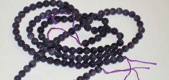 "SALE amethyst 6mm bead 7"" strand"