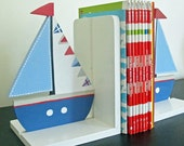Sail boat  Bookends