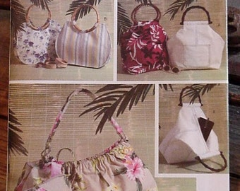 Butterick 4148 Purse Pattern 3 Handbag Styles Grocery Market Tote Bag New Uncut Pattern OOP itsyourcountry