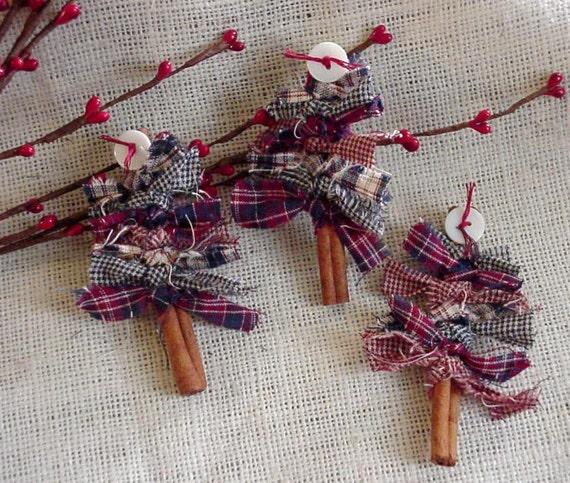 Items Similar To Patriotic Cinnamon Stick Tree Brooch