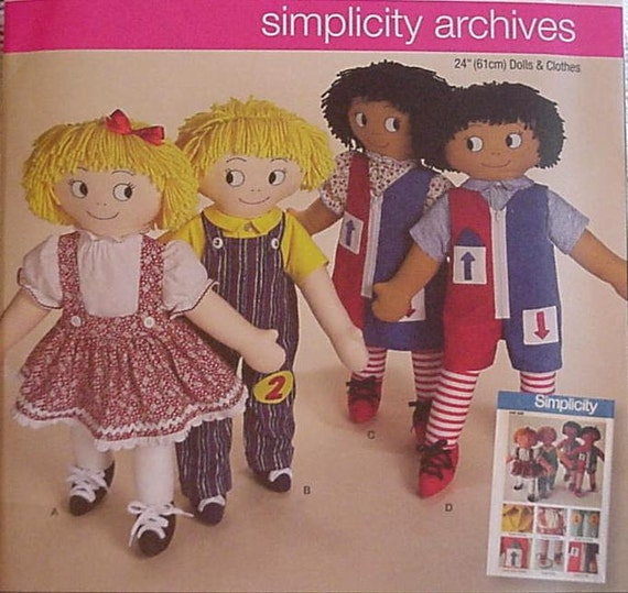 Simplicity 2729 24 inch Learn to Dress Cloth Doll Pattern New Uncut itsyourcountry