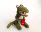 The Love Alligator  Christmas Ornament-  Perfect Gift for the one you Love - AdoraWools Wedding Cake Topper