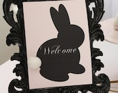 CUSTOM Welcome Party Sign - Vintage Peter Cottontail Easter Collection - BellaGrey Designs