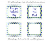 CUSTOM Mini Cards - Father's Day Argyle Birthday Party