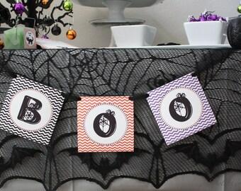Hallow Boo Halloween Birthday Party Banner Printable