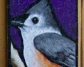 "Jigsaw Puzzle, Handmade, Wooden, 45 pieces - ""Titmouse"""