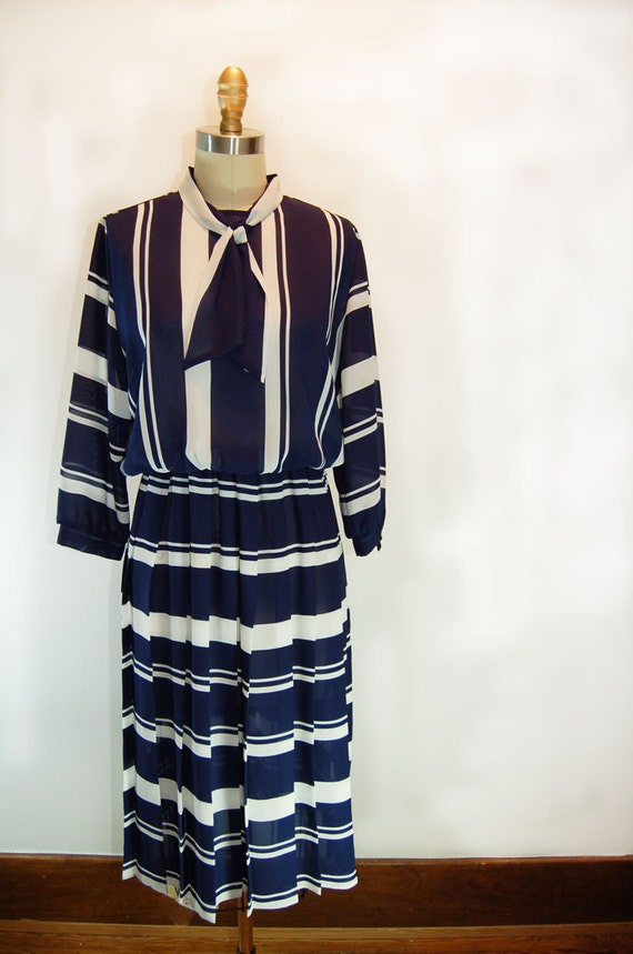 Sail On Sailorette Vintage Secretary Dress