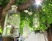 "vintage pharmaceutical bottle vase ""Potassium Hydroxide Koh"""