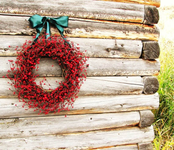 Christmas Wreath-Winter Wreaths-Holiday Home Decor-Summer Door WReawths-RED Wreath-Red Berry Wreath-Home Decor-Scented Door Wreath-Gifts