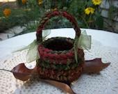 Crochet Mini Baskets Mini Basket Autumn Decor Fall Decor Mini Baskets Autumn Crochet Mini Baskets Small Crochet Baskets Crochet Basket Small