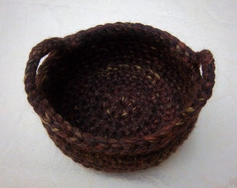 Baskets and Bowls Wool Baskets and Bowls Crochet Baskets and Bowls Storage Baskets and Bowls Decorative Baskets and Bowl Rustic Decor Basket