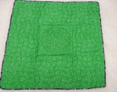 Large Green Quilted Lap Labyrinth