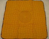 Large Gold Quilted Lap Labyrinth