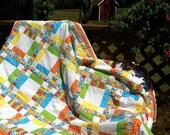 Twin Springtime Tutti Frutti Quilt Blanket