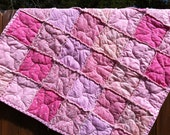 Baby's Toddler's Pink Rag Quilt Blanket
