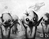 "Print of Original ""Zombies"" Drawing"
