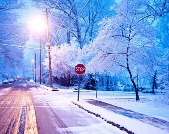 Evening Snow, Decatur Georgia, 2010