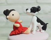 Cute baby birthday cake topper Decoration Gift with a dog