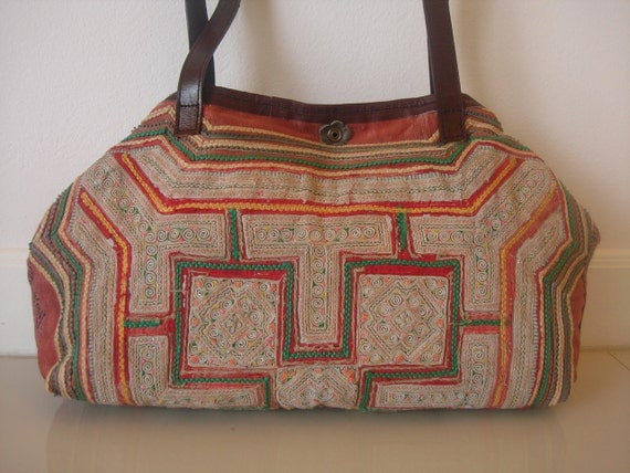 Tote -Tribal-Handmade Ethnic Hmong Bag HB-294