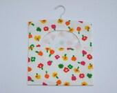 Floral Peg/Clothespin Bag  - Cotton, Laundry Peg Bag, Clothespeg Bag, Hanging Peg Bag