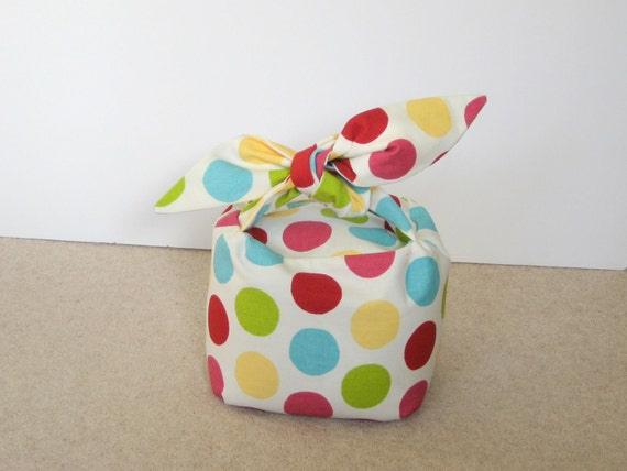 Spotty Doorstop - Square with Knotted Handle
