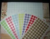 1,422 pieces 16 sheets round label mix colors