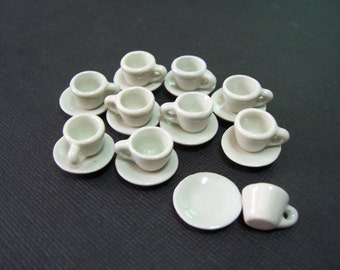 2 mini coffee cup and Saucer ceramic