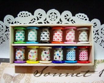 12 yards masking tape polka dots collection