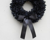 Halloween Wreath - Valentines - Valentine Day -Fabric Wreaths - Black Wreath - Christmas Wreath - Ready to Ship