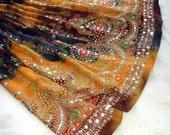 Gypsy Skirt: Boho Indian Knee Length Skirt, Bohemian Tie Dye Beach Summer Skirt Cover Up