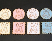 Easter Stickers - Bunny Envelope Seals - embellishments
