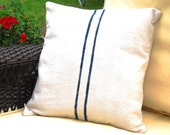 FeedSack Pillow Cover Navy 16 x 16