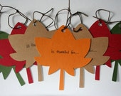 Thanksgiving Paper Leaves - set of 12