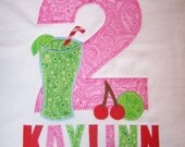 Cherry Limeade Appliqued Tee